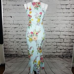 NWT ASOS  Floral Print Halter Stretch Dress